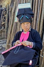 China,Sewing,Stitching,Yao,Yunnan