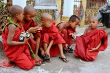 Young Monks At Recreation