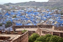 Blue City Behind Fort