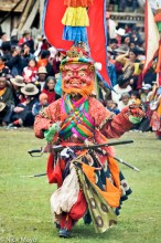 China,Dancing,Festival,Mask,Monk,Sichuan,Sword,Tibetan