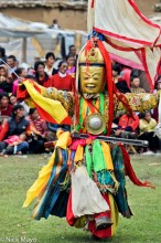China,Dancing,Festival,Mask,Monk,Sichuan,Sword,Tibetan