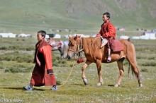 China,Festival,Horse,Monk,Sichuan,Tibetan