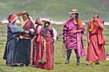 China,Festival,Hair,Hair Piece,Hat,Monk,Sichuan,Sleeve,Tibetan