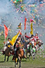 China,Festival,Horse,Prayer Flag,Sichuan,Standard,Tibetan