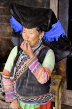 China,Earring,Hat,Smoking,Yi,Yunnan