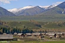 Cabin,China,Roof,Village,Xinjiang