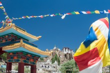 India,Jammu & Kashmir,Monastery,Prayer Flag,Stupa
