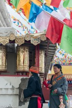 China,Kora,Prayer Flag,Prayer Wheel,Qinghai,Tibetan