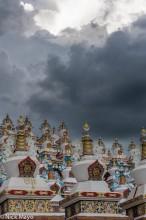 China,Sichuan,Stupa