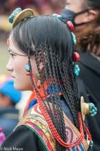 China,Festival,Hair,Hair Piece,Sichuan,Tibetan