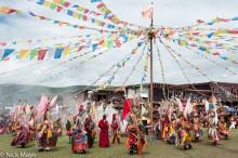 China,Dancing,Festival,Mask,Monk,Prayer Flag,Sichuan,Tibetan