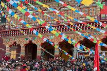 China,Festival,Monastery,Prayer Flag,Sichuan,Tibetan