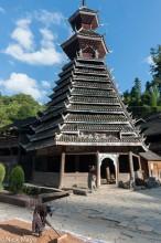China,Dong,Drum Tower,Guizhou,Hat,Leggings,Paddy,Raking