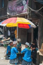China,Guizhou,Market,Miao,Umbrella