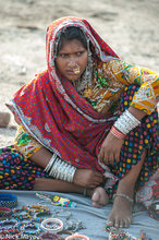 Anklet,Bangle,Bracelet,Gujarat,Head Scarf,India,Market,Nose Ring,Selling