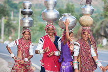 Fetching Water,Gujarat,India,Rabari