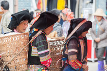 Basket,China,Market,Shopping,Yi,Yunnan