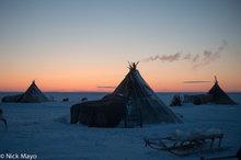 Tundra Camp In Last Light