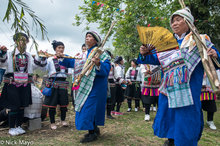 Bimaw,China,Festival,Guangxi,Head Scarf,Leggings,Yi