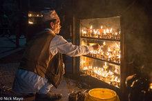 Votive Candles At Swayambhunath