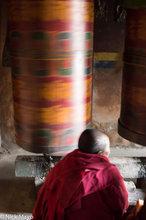 Arunachal Pradesh,Festival,India,Monpa,Nun,Prayer Wheel