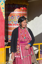 Arunachal Pradesh,Festival,Hat,India,Monpa,Necklace,Prayer Wheel