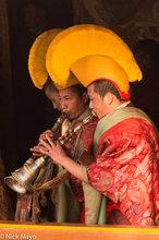 Arunachal Pradesh,Festival,Hat,Horn,India,Monk,Monpa