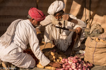 Festival,India,Onion,Potato,Rabari,Rajasthan,Turban,Weighing Scale