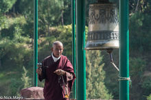 Monk At Woesel Choling Monastery