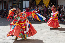 Dance In The Dzong Courtyard