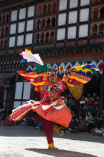 Masked Monk Performing A Cham Dance