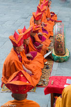 Monks At A Tshechu Religious Ceremony