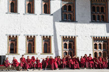 Monks Waiting For The Cham Dances