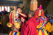 Bhutan,East,Festival,Mask,Monk