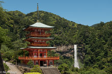 Three Storied Pagoda & Falls