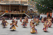 Dancing, Festival, Himachal Pradesh, India, Monk