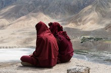 Himachal Pradesh, India, Monk, Village