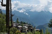 Himachal Pradesh, India, Roof, Village