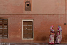 Wall & Women At Junagarh Fort