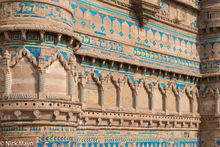 India, Madhya Pradesh, Palace, Wall