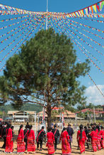 Burma, Circling, Festival, Lahu, Shan State