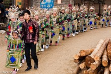 Apron,Breastpiece,China,Column,Dong,Guizhou,Headdress,Necklace,Wedding