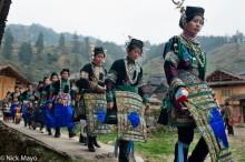 Apron,China,Column,Dong,Guizhou,Hair Piece,Leggings,Necklace,Wedding