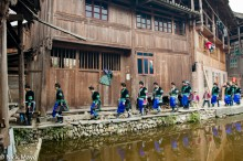 Apron,China,Column,Dong,Guizhou,Hair,Leggings,Wedding