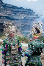 Apron,China,Dong,Guizhou,Headdress,Necklace,Wedding