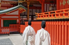 Shinto Priests At Inari Taiasha