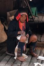 Akha Woman Sewing