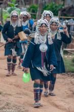 Akha Women Heading To The Spring