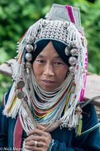 Loimi Akha Woman In Headdress