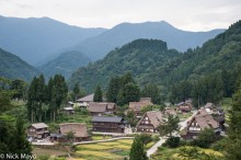 Chubu,Japan,Roof,Thatch,Village